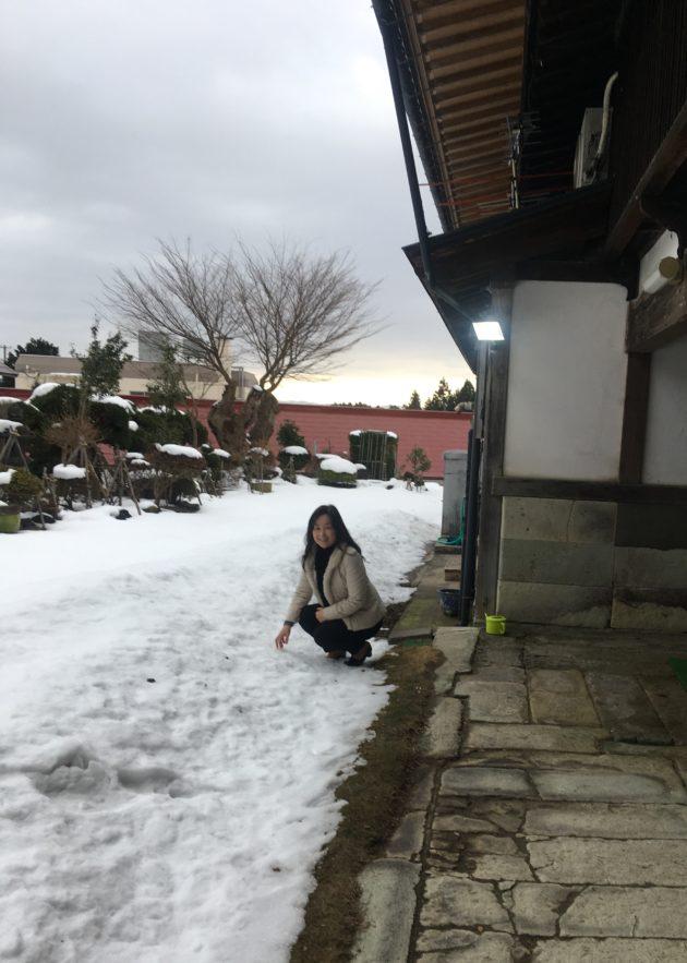 雪景色と私