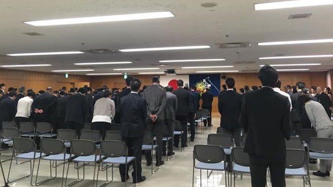 新区長初登庁あいさつ会にて