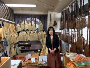 江戸ほうき展示館の一室
