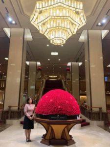 帝国ホテル東京、花のドームと私
